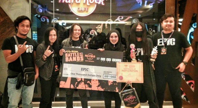 KUMPULAN EPIC JUARA HARD ROCK RISING 2017