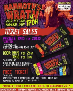 Mammoth's Wrath At Ipoh